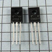 2SA1358-Y & 2SC3421-Y, A1358 / C3421 : 3 pair per Lot