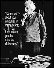 Albert Einstein Poster Do Not Worry und ein Ü-Poster geschenkt!