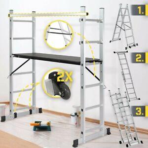 Jago® Alu Arbeitsgerüst Baugerüst Arbeitsbühne Multifunktionsleiter Kleingerüst