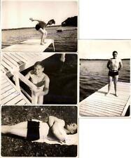 1930s Teen Boy Man Hunk Swim Suit Boat Dock Diving Sleeping Photos Gay Int