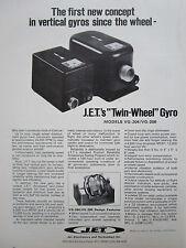 10/1972 PUB JET ELECTRONICS TECHNOLOGY TWIN WHEEL VERTICAL GYRO GYROSCOPE AD