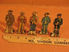 Marx Metal Litho Soldiers - Targets for Shooting Gallery 5 Figures