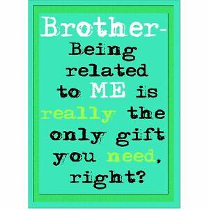 Doodlecards Funny Brother Birthday Card - Medium