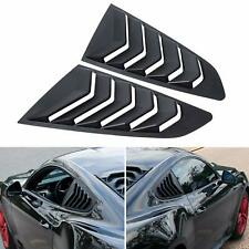 2pcs Quarter Side Window Louvers Scoop Cover Vent For Ford Mustang 2015-2020