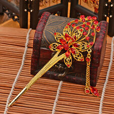 Chinese Classical Women Hairpin Hair Step Shake Alloy Crystal Bride Accessories