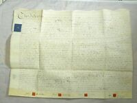 Antique 1808 Leather Vellum Parchment with Wax Seals Robert Holdich Law Display