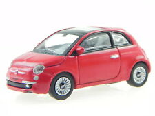 Fiat 500 2007 red diecast model car 770058 Norev 1:87
