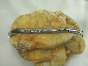 """Vintage  925 Sterling Silver Clasp Bracelet 7.5"""" 29 G"""