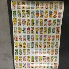 Funny Valentines cards rare uncut card sheet 1960s