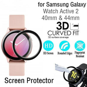 3D Curved For Samsung Galaxy Active 2 Smart Watch Film Cover Screen Protector