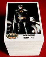 BATMAN - COMPLETE BASE SET (132 Cards) - Topps (UK) 1989