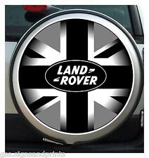 600 mm BLACK GREY UNION JACK land rover SPARE WHEEL COVER STICKER DECAL