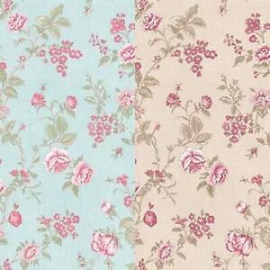 Floral Wallpaper in Beige Or Blue Pink  Botanic Flowers Matt Finish Vinyl