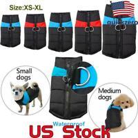 Waterproof Small/ Large Pet Dog Clothes Winter Warm Padded Coat Pet Vest Jacket
