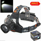 Boruit 1200Lm XM-L T6 LED RJ-2157 Waterproof Zoom Headlamp Head Light Flashlight