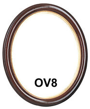 Picture Frame - Oval Mahogany w/ Gold Lip 8x10 / 8 x 10