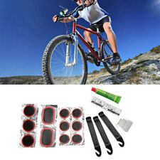 Multifunctional Mountain Bike Bicycle Flat Tire Repair Kit Tool Patch Rubber-.