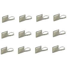 12pcs Ohrring Drahthaken 16mm Leere Quadrat Lünette Cabochon Silber Einstellung