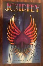 JOURNEY SIGNED X5 HARD ROCK CASINO CONCERT POSTER LAS VEGAS 2015