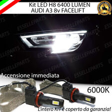 KIT LED H8 CANBUS 6400 LUMEN 6000K FENDINEBBIA AUDI A3 8V RESTYLING NO ERROR