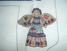 Vtg 90s Primitive Country Angel Doll & Clothes Cut Sew Stuff Fabric Panel #pb