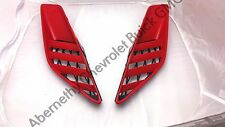OEM 2014-2016 Corvette Torch Red Quarter Panel Air Vent Grille Scoops LH & RH GM