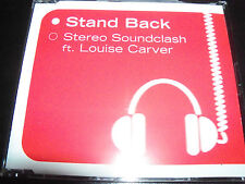 Stereo Soundclash Ft Louise Carver Stand Back Australian Remixes CD Single