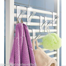 6 x WENKO Heizkörper Haken Rundheizkörper Haken Handtuchhalter Handtuchhaken