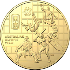 2020 Australian Olympic Team Gold Plated Round 50c Coin