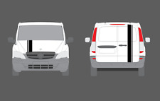 Mercedes-Benz Vito Double Style Bonnet & Tailgate Stripe Decal Stickers Set. AMG
