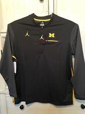 Nike Jordan Michigan Wolverines Football 1/4 Zip On Field Sweatshirt Mens XXL