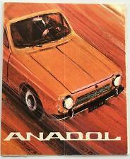 1966 Anadol Otosan Turkey Original Car Sales Brochure Catalog - Ford Ogle 1967