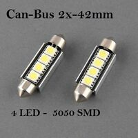 2x Soffitte CanBus 4 SMD 5050 LED Sofitte c5w 42mm xenon Innenraumbeleuctung.