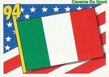 285 FLAG DRAPEAU ITALY ITALIA BLEU BACK FIGURINE VIGNETTE STICKER USA 94 BROCA