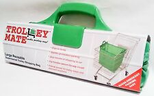 Trolley Mate Large Reusable Supermarket Trolley Shopping Bag With Handles Green