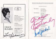 Autografi di Grace Bumbry & Leonard Hokanson (1931-2003) in programma fascicolo 1966