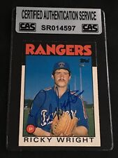 RICKY WRIGHT 1986 TOPPS TRADED SIGNED AUTOGRAPHED CARD #129T CAS AUTHENTIC RARE!