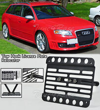 For 06-08 Audi A4 S4 RS4 B7 Front Bumper Tow Hook License Plate Mount Bracket