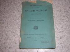 1909.règlement sur exercices de la cavalerie allemande / Silvestre.militaire
