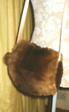 Vintage Fur Muff with Integrated Purse Bag