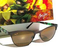 NEW* Maui Jim POPOKI Brown POLARIZED Bronze Women's Sunglass H729-01