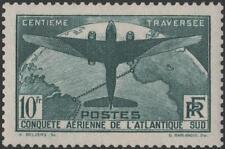 "FRANCE STAMP TIMBRE N° 321 "" TRAVERSEE ATLANTIQUE SUD 10F VERT"" NEUF xx TTB K285"
