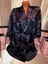 Victorias Secret Silky Robe Multi Color Print M/L