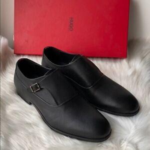Hugo Boss HUGO Men's Boheme Monk Dress Shoes Black