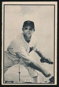 #9 WALT MASTERSON 1953 Bowman Baseball Black White WASHINGTON SENATORS
