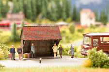 Noch Ready Made Scene - At the Bus Stop 12015 - HO Scale (suit OO also)
