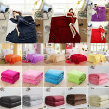 Warm Super Soft Bed Cozy Fleece Velvet Plush Throw Blanket Twin Full Queen King