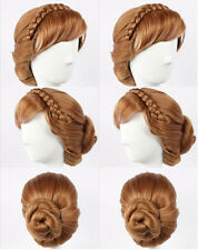 Fashion Braide Coronation Weave Women Lady Girl Hair Wig Cosplay Anime Wigs+ Cap