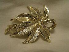 Vintage Gerry's Gold Tone Leaf Leaves Brooch EUC Signed