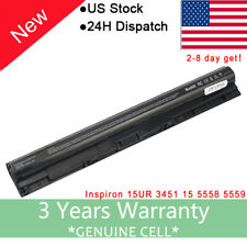 For Dell 3451 M5Y1K 4 Cell Laptop Battery 14.8V 33WH Fast Free Ship